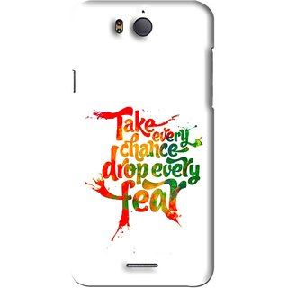 Snooky Printed Drop Fear Mobile Back Cover For Infocus M530 - White