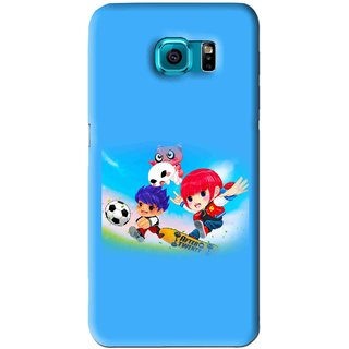 Snooky Printed Childhood Mobile Back Cover For Samsung Galaxy S6 Edge - Blue
