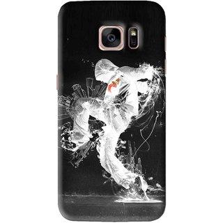 Snooky Printed Dance Mania Mobile Back Cover For Samsung Galaxy S7 Edge - Black