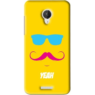 Snooky Printed Yeah Mobile Back Cover For Micromax Canvas Spark Q380 - Yellow