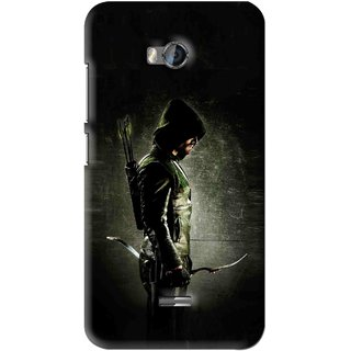 Snooky Printed Hunting Man Mobile Back Cover For Micromax Bolt Q336 - Black