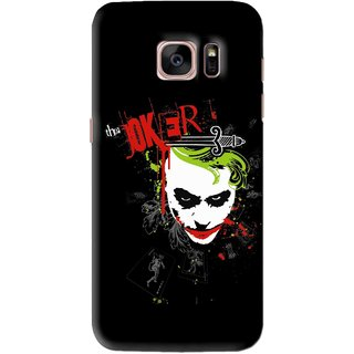 Snooky Printed The Joker Mobile Back Cover For Samsung Galaxy S7 Edge - Black
