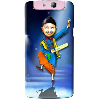 Snooky Printed Balle balle Mobile Back Cover For Oppo N1 Mini - Blue