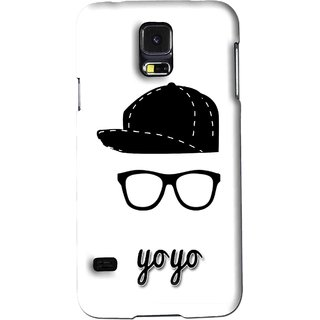 Snooky Printed Yo Yo Mobile Back Cover For Samsung Galaxy S5 - White