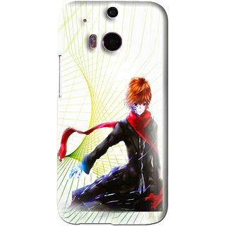Snooky Printed Stylo Boy Mobile Back Cover For HTC One M8 - Multi
