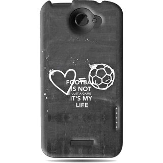 Snooky Printed Football Life Mobile Back Cover For HTC One X - Black