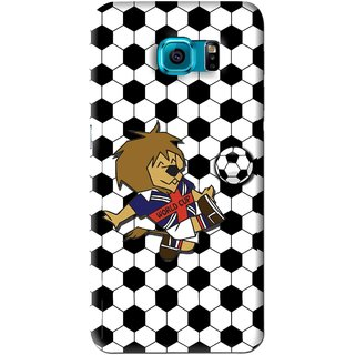 Snooky Printed Football Cup Mobile Back Cover For Samsung Galaxy S6 Edge - Multi
