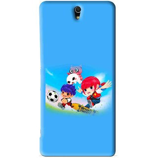Snooky Printed Childhood Mobile Back Cover For Sony Xperia C5 - Blue