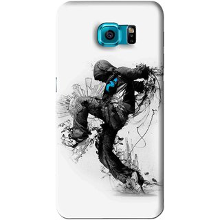 Snooky Printed Enjoying Life Mobile Back Cover For Samsung Galaxy S6 Edge - White