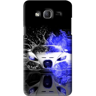 Snooky Printed Super Car Mobile Back Cover For Samsung Galaxy On5 - Black