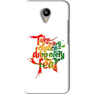 Snooky Printed Drop Fear Mobile Back Cover For Meizu M2 Note - White