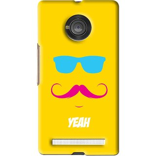 Snooky Printed Yeah Mobile Back Cover For Micromax Yu Yuphoria - Yellow