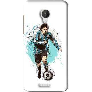 Snooky Printed Have To Win Mobile Back Cover For Micromax Canvas Spark Q380 - White