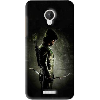 Snooky Printed Hunting Man Mobile Back Cover For Micromax Canvas Spark Q380 - Black