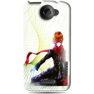 Snooky Printed Stylo Boy Mobile Back Cover For HTC One X - Multi