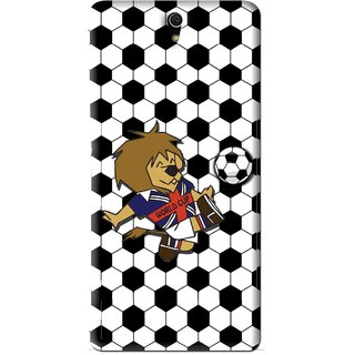 Snooky Printed Football Cup Mobile Back Cover For Sony Xperia C5 - Multi