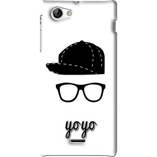 Snooky Printed Yo Yo Mobile Back Cover For Sony Xperia J - White