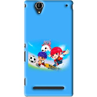Snooky Printed Childhood Mobile Back Cover For Sony Xperia T2 Ultra - Blue