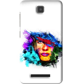 Snooky Printed Dashing Girl Mobile Back Cover For Lenovo A1900 - White