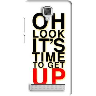 Snooky Printed Get Up Mobile Back Cover For Micromax Bolt Q331 - White