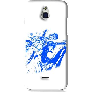 Snooky Printed Horse Boy Mobile Back Cover For Infocus M2 - White