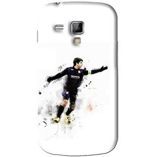 Snooky Printed Pass Me Mobile Back Cover For Samsung Galaxy S Duos S7562 - White