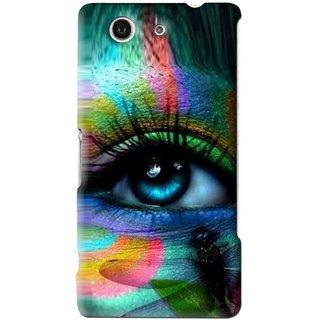 Snooky Printed Designer Eye Mobile Back Cover For Sony Xperia Z4 Mini - Multi