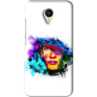 Snooky Printed Dashing Girl Mobile Back Cover For Meizu M1 Metal - White