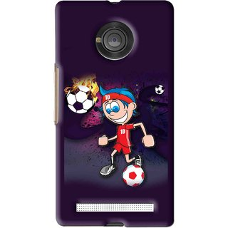 Snooky Printed My Game Mobile Back Cover For Micromax Yu Yuphoria - Puple