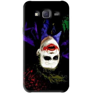 Snooky Printed Hanging Joker Mobile Back Cover For Samsung Galaxy J5 - Black