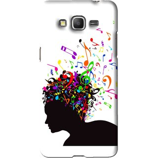 Snooky Printed Music Lover Mobile Back Cover For Samsung Galaxy Grand Max - White