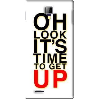 Snooky Printed Get Up Mobile Back Cover For Micromax Canvas Xpress A99 - White