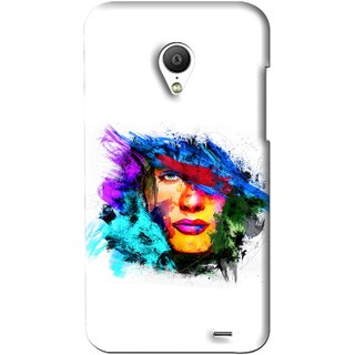 Snooky Printed Dashing Girl Mobile Back Cover For Meizu MX3 - White
