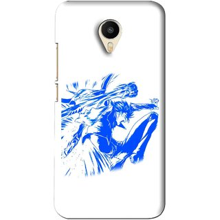 Snooky Printed Horse Boy Mobile Back Cover For Meizu M1 Metal - White