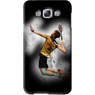 Snooky Printed Badminton Mania Mobile Back Cover For Samsung Galaxy A3 - Black