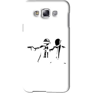 Snooky Printed Gangster Mobile Back Cover For Samsung Galaxy A7 - White