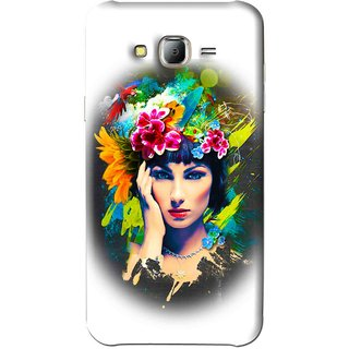 Snooky Printed Classy Girl Mobile Back Cover For Samsung Galaxy J7 - White