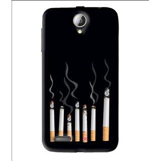 Snooky Printed Smoking Mobile Back Cover For Lenovo A850 - Black