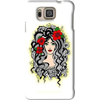 Snooky Printed Tarro Girl Mobile Back Cover For Samsung Galaxy Alpha - White