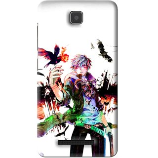 Snooky Printed Angry Man Mobile Back Cover For Lenovo A1900 - White