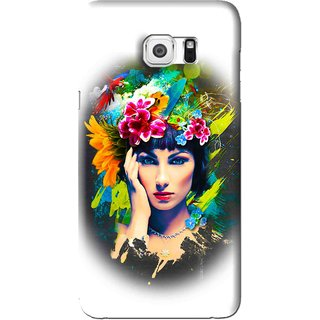 Snooky Printed Classy Girl Mobile Back Cover For Samsung Galaxy Note 5 - White