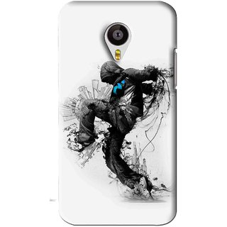 Snooky Printed Enjoying Life Mobile Back Cover For Meizu MX4 - White