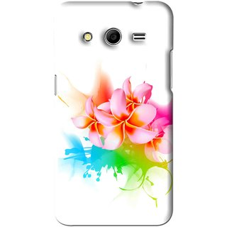 Snooky Printed Colorfull Flowers Mobile Back Cover For Samsung Galaxy Core Prime - Multi
