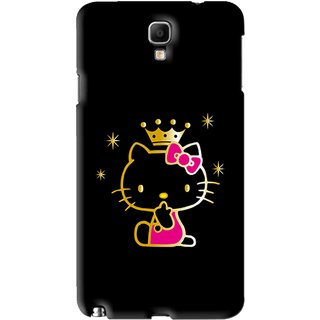 Buy Snooky Printed Princess Kitty Mobile Back Cover For Samsung Galaxy Note 3 neo - Black Online - Get 77% Off