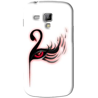 Snooky Printed Eye Art Mobile Back Cover For Samsung Galaxy S Duos S7562 - White