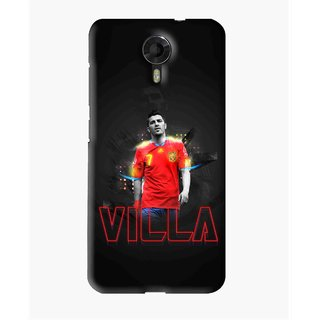 Snooky Printed Sports Villa Mobile Back Cover For Micromax Canvas Express 2 E313 - Black