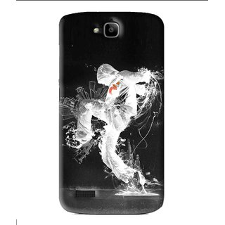 Snooky Printed Dance Mania Mobile Back Cover For Huawei Honor Holly - Black