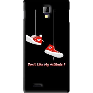 Snooky Printed Attitude Mobile Back Cover For Micromax Canvas Xpress A99 - Black