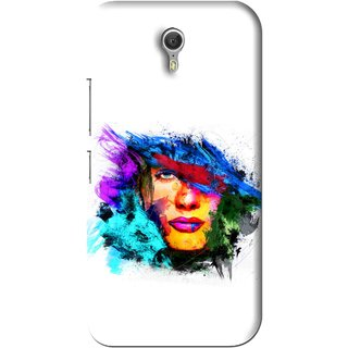 Snooky Printed Dashing Girl Mobile Back Cover For Lenovo Zuk Z1 - White