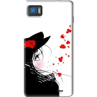 Snooky Printed Mistery Girl Mobile Back Cover For Lenovo K860 - Black